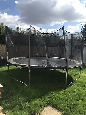 Grey 14 Ft Trampoline With Net. • 150£