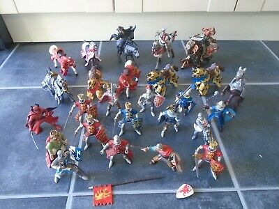 Huge Bundle / Job Lot Of Papo Knights & Horses Medieval Castle / Fantasy Figures • 75£