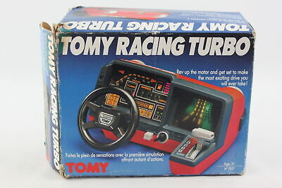 Vintage / Retro 1983 TOMY RACING TURBO Car Simulator Battery Operated Toy Boxed • 21£