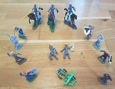 Rare Vintage Collectors Set Of 1960's Swoppet Knights By Cherilea Plus Catapult • 19.97£