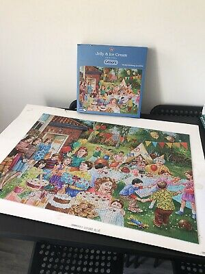 Gibsons  Jigsaws 1000 Pieces Jelly And Ice Cream By Jin Mitchell • 2.50£