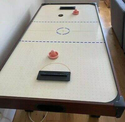 Powerslide Air Hockey Table With Pucks & Handles Full Size (6ftx3ft) • 28£