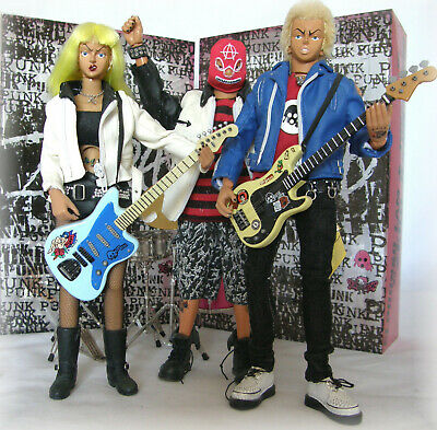 Elphonso Lam & Three Zero -  Zero Band  - Very Rare Action Figures - Punk Band • 550£