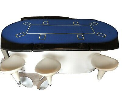 8 Person Oval Double Folding Poker Table  • 20£