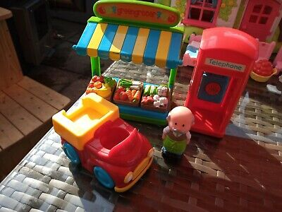 ELC Happyland Greengrocers With Figure, Vehicle And Phone Box  • 6.99£