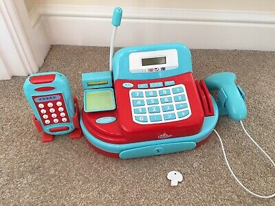 Role / Pretend Play Checkout / Cash Register / Till Scanner, Tannoy Card Machine • 3.99£