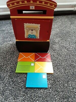 Early Learning Centre ELC Wooden Post Box And Letters Toy • 4£