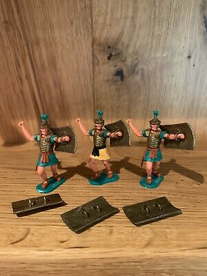 Timpo Toy Soldiers: Roman Empire Infantry (1960s-1970s) X3 • 11.50£