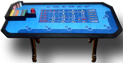 New 'LATREY' 3 Dice Professional Casino Table, Fully Licensed • 199.95£