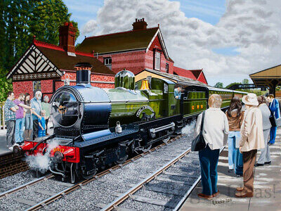 House Of Puzzles - 500 PIECE JIGSAW PUZZLE - All Aboard Steam Train • 11.99£