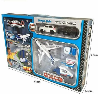 31 Pcs Airport Playset Racing Track Car Track Race Set Airport Toys Road Track • 10.99£