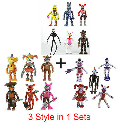 FNAF Five Nights At Freddy's Sister Location Action Figures Toy 5 - 17 Character • 23.88£