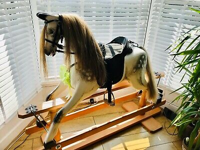 Large Dapple Grey Rocking Horse With Removable Tack • 2,250£