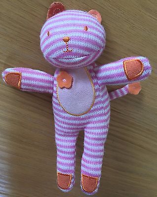 Giggling Striped Cat Soft Toy • 3£