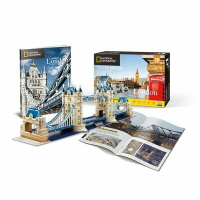3D Puzzle London Tower Bridge - 3D Model Jigsaw National Geographic -  NEW • 7.25£