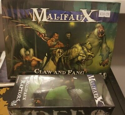 Malifaux 2nd Edition - Claw And Fang And Malifaux Raptors NIB Arcanists Marcus • 7£