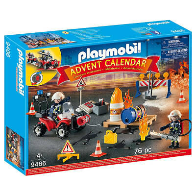 Playmobil Advent Calendar - Construction Site Fire Rescue With Pullback Motor • 20.99£