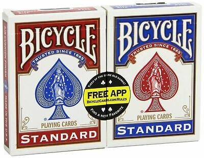 Bicycle Playing Cards Single Pack Standard Index Poker  - 1 Pack - Red Or Blue • 3.99£