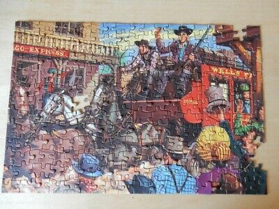 Wells Fargo Vintage Jigsaw Puzzle, Tower Press, 1960s (4 Pieces Missing) • 10£