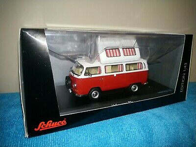 VERY RARE VW T2a CAMPERWAGEN RED 1:43 SCHUCO (BOXED ) • 50£
