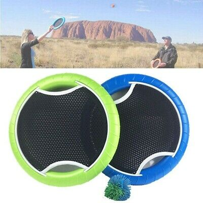 Cricket Bat Slap Ball Hand Trampoline Flying Disk Bounce Game Family Sport Toy • 11.29£