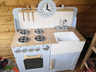 Wooden Tidlo Country Play Kitchen And Accessories • 60£