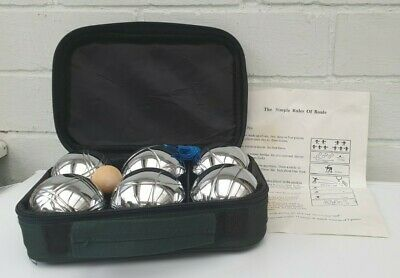 Boules – Set Of 6 Metal Genuine Boules With Carry Case • 9.99£