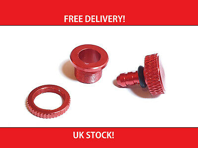 Fuel Dot Fuel Filler RED Anodised Aluminium UK STOCK FREE POSTAGE • 3.49£