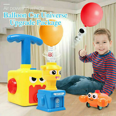Inertia Balloon Launcher & Powered Car Toy Set Toys Gift For Kids Experiment ABS • 14.99£