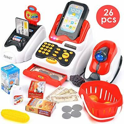 Buyger Toy Till Electronic Cash Register Pretend Play Supermarket Shop Shopping • 22.99£