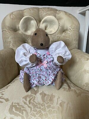 Handmade Mouse In Pink Floral Jumpsuit • 30£