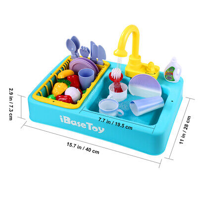 Play Kitchen Sink Set Childrens Kids Toy Roleplay Washing Up House Work Cleaning • 14.99£