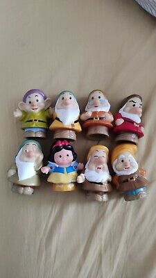Disney Snow White And The Seven Dwarfs Little People Figures Good Condition • 10.49£