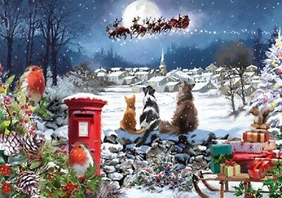 NEW | 1000 Piece Jigsaw Puzzle | CHRISTMAS DELIVERY | Santa & Cat Lover Gift  • 14.99£