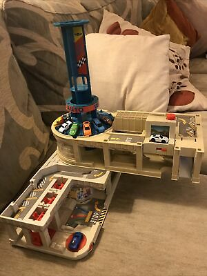 MICRO MACHINES SUPER AUTO WORLD PLAYSET 1995 Lewis Galoob & 8 Cars • 14.99£