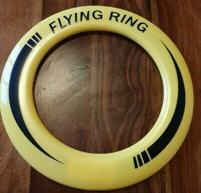 10  Neon Flying Ring Disc Frisbee Flyer Kids Family Outdoor Play Toy Fun • 2£