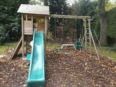 Dunster House Maxifort Frontier Climbing Frame And Swing Set • 100£