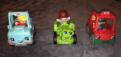 Fisher Price Little People Bundle Cars And People X3 • 10.50£