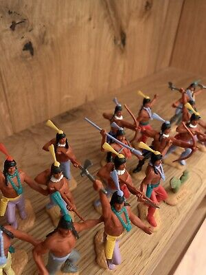 Timpo Toy Soldiers: Native American / Indian Infantry (1960s-1970s) X20 • 18£