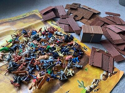 Timpo Fort Cowboys & Indians Union Cavalry 1970s Mixed Lot • 23£