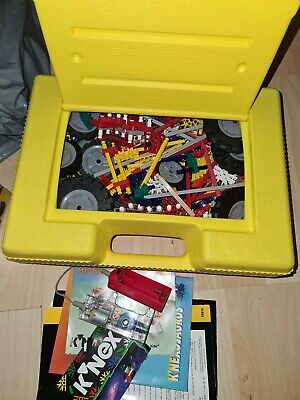 Knex Bundle With Yellow Storage/carry Case - Includes Some Manuals • 0.99£