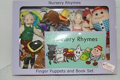 The Puppet Company - Nursery Rhyme Finger Puppets + Book • 14.50£