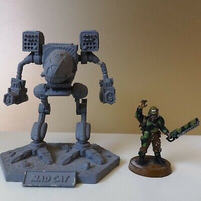 BATTLETECH Museum Scale MADCAT Ral Partha Miniature Undercoated • 20£