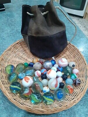 Job Lot Vintage Marbles Swirls Etc • 2.99£
