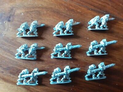15mm Fantasy Demon World Barbarians With Ram (9 Sets Of 2) • 8£