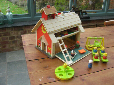 Vintage 1970s Fisher Price Play Family School Complete Furniture, Figures Etc. • 12£