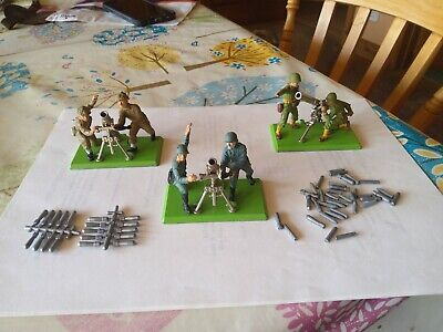 Britains Deetail Model German/British/American Mortar/Gun Team • 9.50£