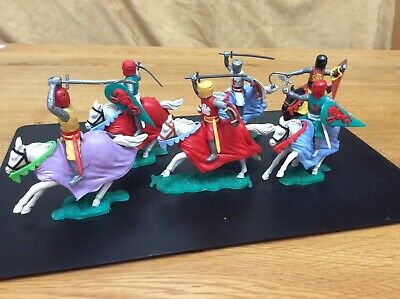 6 X Vintage Timpo Medieval Knights On Horseback Mounted • 10£