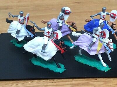 5 X Vintage Timpo Medieval Knights On Horseback Mounted • 8£