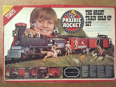 Timpo The Prairie Rocket - 'The Great Train Hold-Up Set' With Instructions Etc • 99.99£